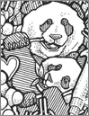 Giant Panda Problem Coloring Book