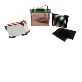 Transfer cell, includes 2 gel holder cassettes, buffer tank, lid with cables, foam pads, 1 pack blot paper (15 x 20 cm) #170-3946