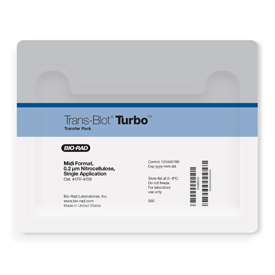 Trans-Blot<sup>®</sup> Turbo™ Midi Nitrocellulose Transfer Packs