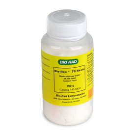 Bio-Rex™ 70 Cation Exchange Resin, biotechnology grade, 50-100 mesh, sodium form, 100 g