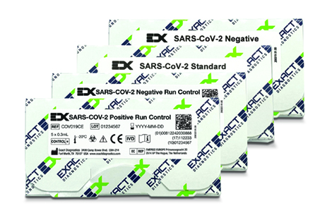 Exact Diagnostics SARS-CoV-2, Flu, RSV Run Controls