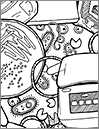20 Techniques of Life Science Research Coloring Sheet