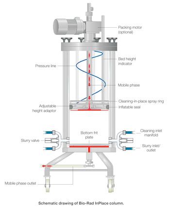 Process Scale Chromatography Columns Process Separations Bio Rad