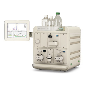 Medium-pressure gel filtration chromatography system